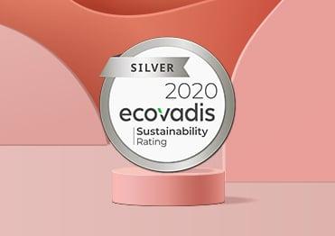 Médaille argent 2020 EcoVadis performance RSE Eudonet